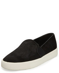 Vince Berlin Calf Hair Skate Shoe Black