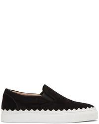 Chloé Black Ivy Slip On Sneakers
