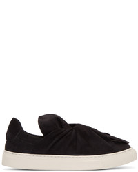 Ports 1961 Black Suede Bow Slip On Sneakers