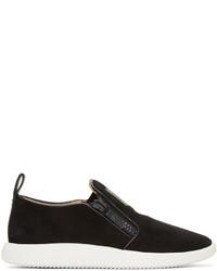 Black suede slip on sneakers medium 1028250