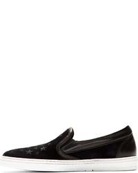 5230b51db56 ... Jimmy Choo Navy Black Suede Grove Slip On Shoes ...