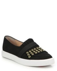 Kate Spade New York Courtney Suede Fringed Slip On Sneakers