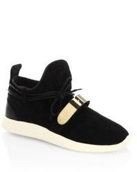 Giuseppe Zanotti Single Bar Suede Slip On Sneakers