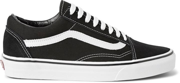 5abe3b3a7ee2be ... Vans Old Skool Canvas And Suede Sneakers ...