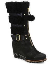 Sorel Helen Waterproof Suede Wedge Boots