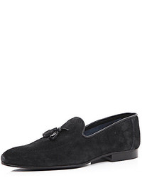 River Island Black Suede Tassel Pointed Loafers