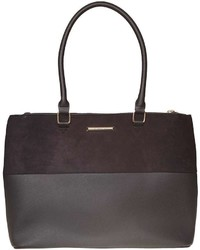 Black Double Zip Tote Bag
