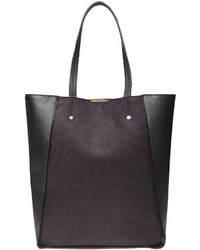 Black Insert Shopper Tote Bag