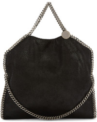 Stella McCartney Black Small Falabella Shaggy Deer Tote