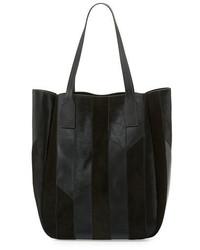 Derek Lam 10 Crosby Bond Striped Calf Hair Tote Bag Black