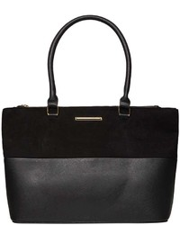 Dorothy Perkins Black Double Zip Tote Bag