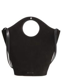 Market leather suede shopper black medium 3943982