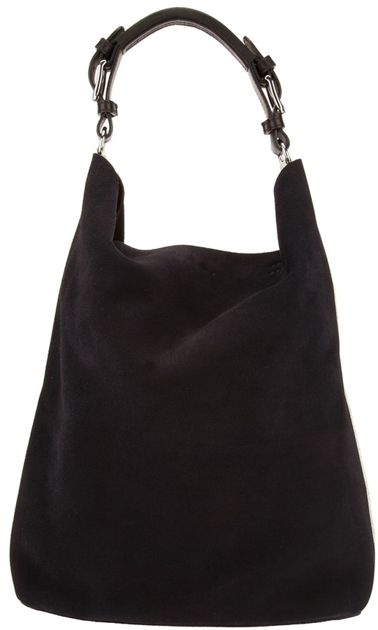Black Suede Tote Bags Marni Edition Bicolour Shoulder Bag