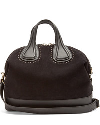 Givenchy Nightingale Embellished Suede And Leather Tote