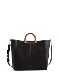 Topshop Sallie Faux Leather Shopper