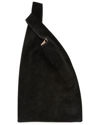 Hayward Suede Shopper Tote Bag Black