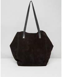 Asos Suede Slouch Shopper Bag