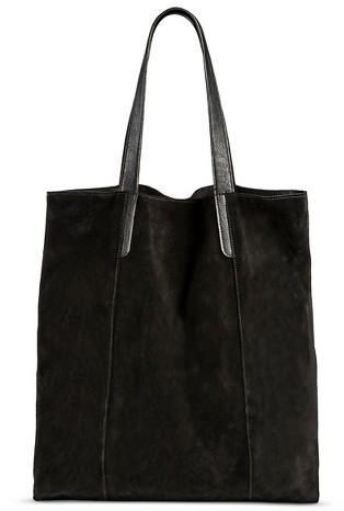 39 Merona Suede Tote Handbag