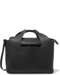 The Row Two For One 12 Leather And Suede Tote Black