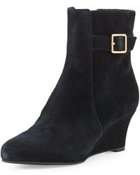 Cole Haan Aimee Suede Wedge Ankle Boot Black