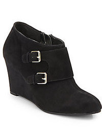 Anne Klein Tylor Suede Wedge Ankle Boots