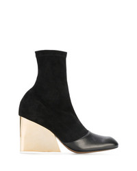 Neous Black Suede 90 Wedge Boots