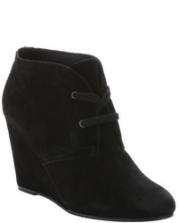 Dolce Vita Black Suede Gardyn Wedge Ankle Boots