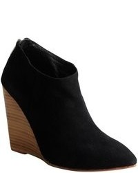 Madison Harding Black Suede Pointed Toe Hurley Wedge Ankle Boots