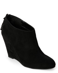 Anne Klein Black Torny Wedge Ankle Booties