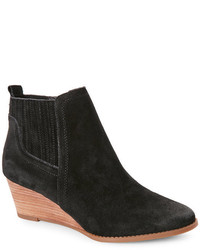 Franco Sarto Black Wayra Wedge Ankle Booties