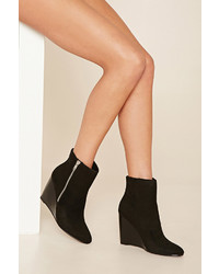 Forever 21 Faux Suede Wedge Ankle Boot