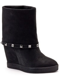 Jennifer Lopez Studded Hidden Wedge Ankle Booties