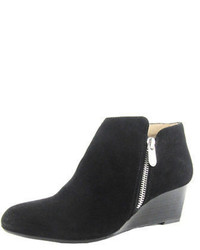 Adrienne Vittadini Meriel Leather Wedge Ankle Boots