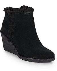 Cole Haan Michelle Faux Fur Trimmed Waterproof Suede Ankle Boots