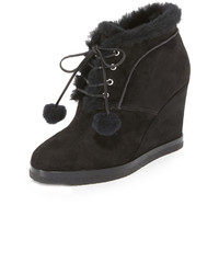 Michael Kors Michl Kors Collection Chadwick Pom Pom Wedge Booties