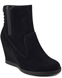 Anne Klein Neither Round Toe Suede Ankle Boots
