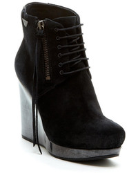 Diesel On The Wedge Des Wedge Leather Bootie