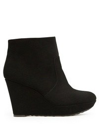 Mango Outlet Suede Effect Wedge Ankle Boots