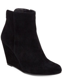 Jessica Simpson Ronica Suede Ankle Wedge Booties