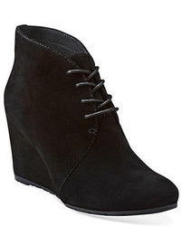 Clarks Rosepoint Dew Suede Wedge Ankle Boots