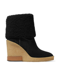 Tod's Sonia Med Suede Wedge Ankle Boots