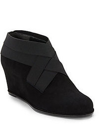 Stuart Weitzman Be Happy Suede Wedge Ankle Boots