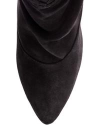 1663ced3257c ... H M Suede Wedge Heeled Ankle Boots Black Ladies ...