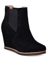 Splendid Tara Suede Wedge Ankle Boots