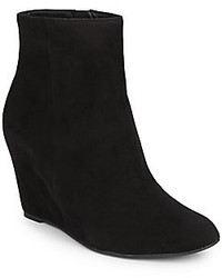 Via Spiga Abri Suede Wedge Ankle Boots