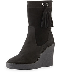 Viola suede wedge bootie medium 1246615