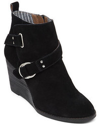 Lucky Brand Yerik Suede Wedge Ankle Booties