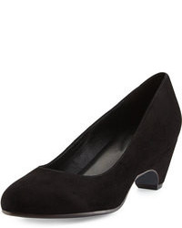 Eileen Fisher Comma Suede Wedge Pump Black