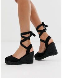 Pimkie Espadrille Wedge In Black