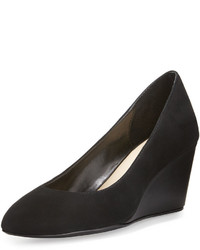 Taryn Rose Kathleen Suede Wedge Pump Black